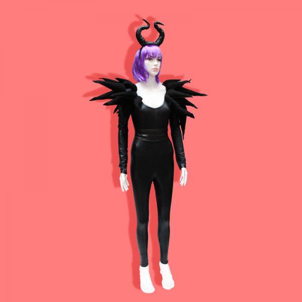 siyah spike kostüm